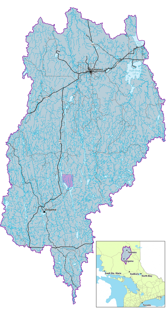 Image of the Mattagami River Watershed area in Northeastern Ontario