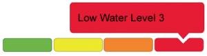 red low water level three icon