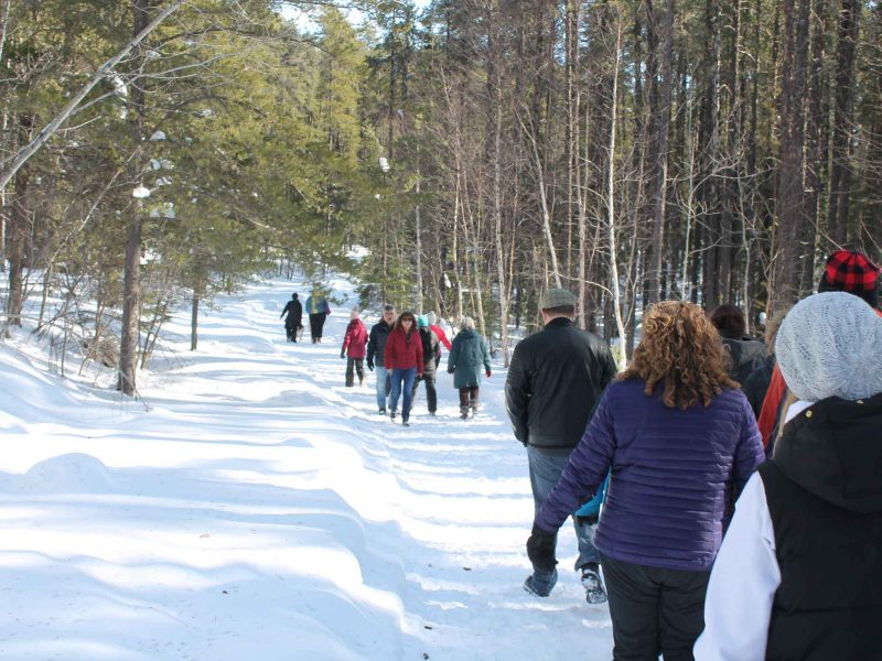 participants enjoying winter hiking day