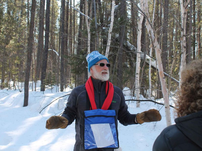 Wintergreen guide at winter hiking day