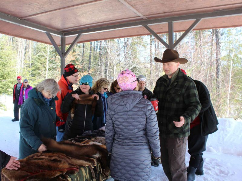 Timmins Fur Council presentation at winter hiking day