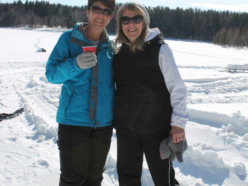 women enjoying Wintergreen's winter hiking day