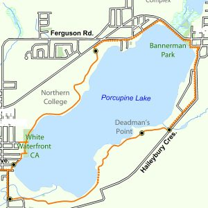 Map of the Bart Thomson Trail