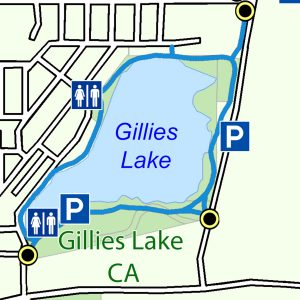 Map of the Gillies Lake Trail