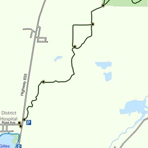 Map of the Golden Springs Trail