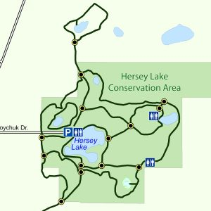 Map of the Hersey Lake Trail System