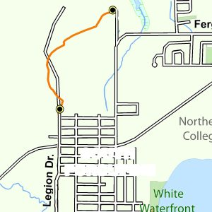 Map of the North part of the Bart Thomson Trail