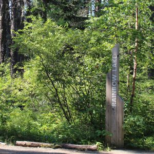 Rainbow Loop Signpost at Hersey Lake Conservation Area