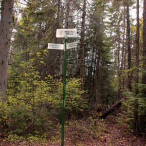 Town Creek Portage Signpost on Scout Rock Trail