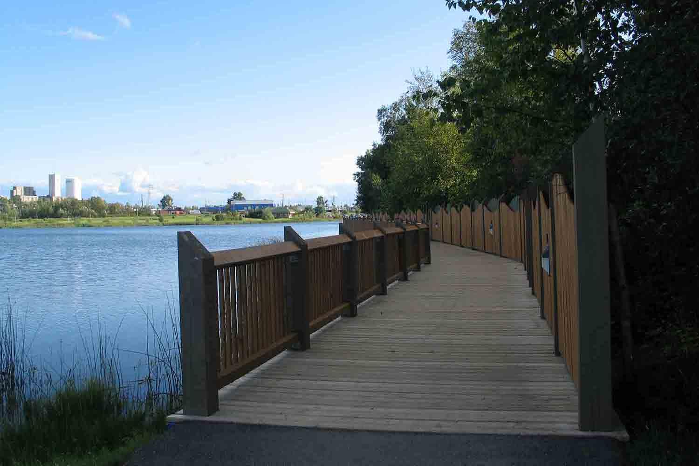 Boardwalk trail extension alongside Gillies Lake