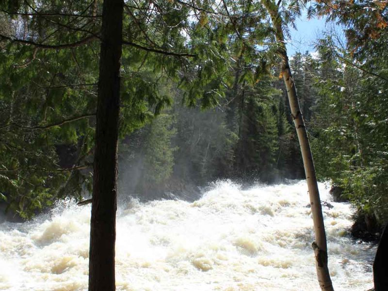 fast flowing water in a river
