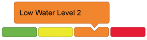 orange low water level two icon