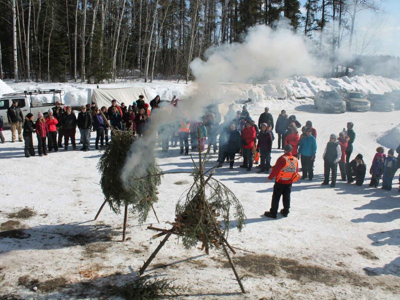 Search and Rescue presentation at winter hiking day