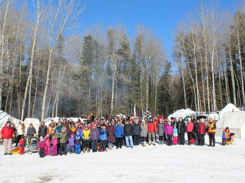 participants at winter hiking day