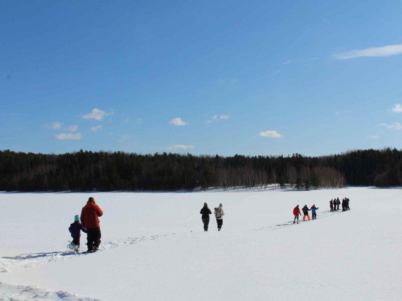 snowshoeing at Hersey Lake