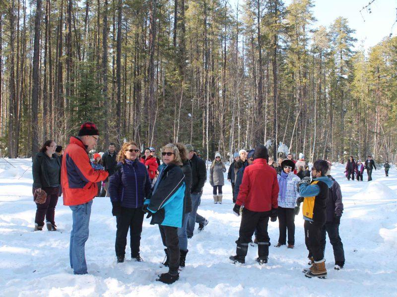 participants enjoying winter hiking day