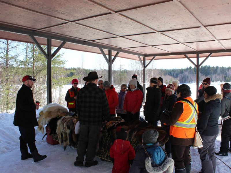 Timmins Fur Council presentation at winter hiking day