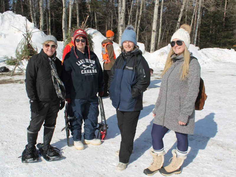 winter hiking day participants