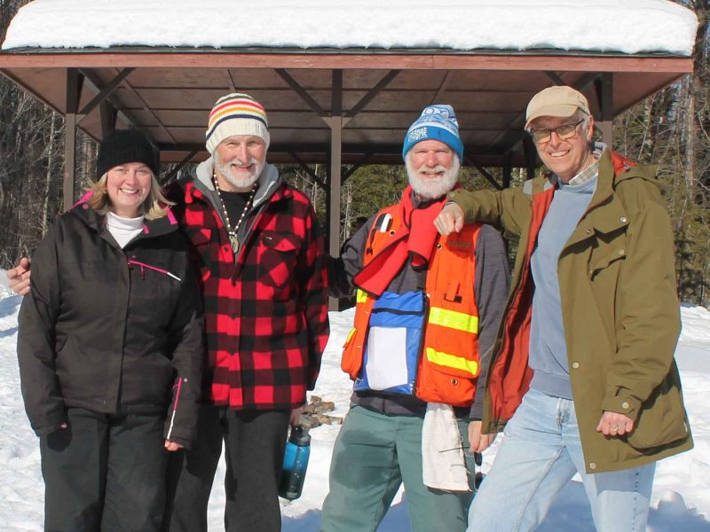 Wintergreen members at the winter hiking day