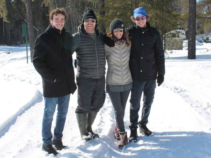 group of people enjoying Wintergreen's winter hiking day