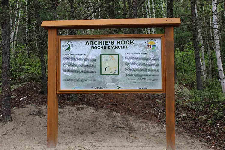 Archie's Rock Signage