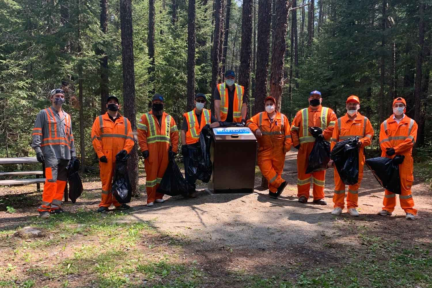 Sandvik Mining & Rock Technology team donates to help keep the trails clean